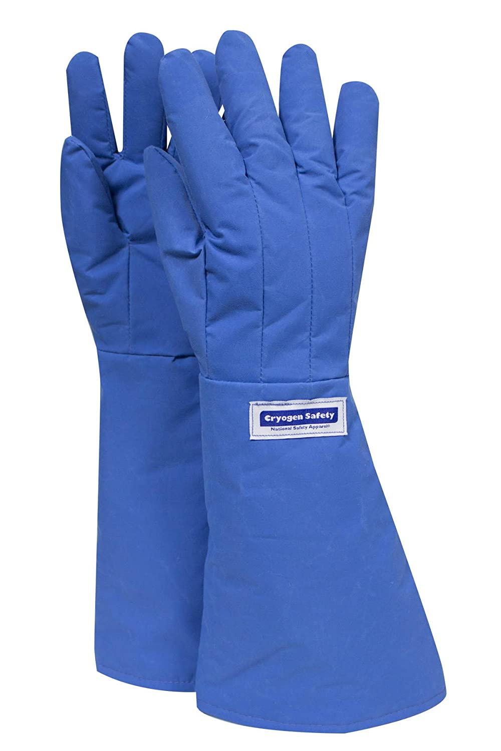 National Safety Apparel G99CRBEPXLEL Nylon Taslan and PTFE Elbow Waterproof Safety Glove, Cryogenic, 17 - 18 Length, X-Large, Blue by National Safety Apparel Inc  B0078R56RU