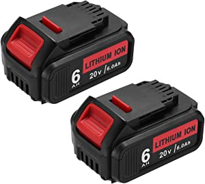 2PACK 6.0Ah Battery for Dewalt DCB205 Battery Replacement for 20 Volt Dewalt Battery DCB200 DCB206 DCB206-2 DCB204 DCB204BT-2 DCB203 DCB201