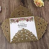 Doris Home 50pcs Wedding Invitations Wedding