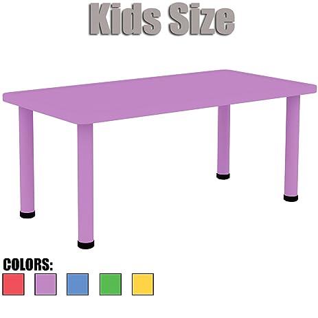 2xhome   Purple   Kids Table   Height Adjustable 18.25u0026quot;   19.25u0026quot;  Rectangle Shape