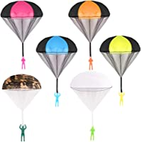 Jaysom 6pcs Parachute Toy, Tangle Free Throwing Hand Throw Flying Toys,No Battery nor Assmbly Reauired, for Children's Outdoor Play Gifts