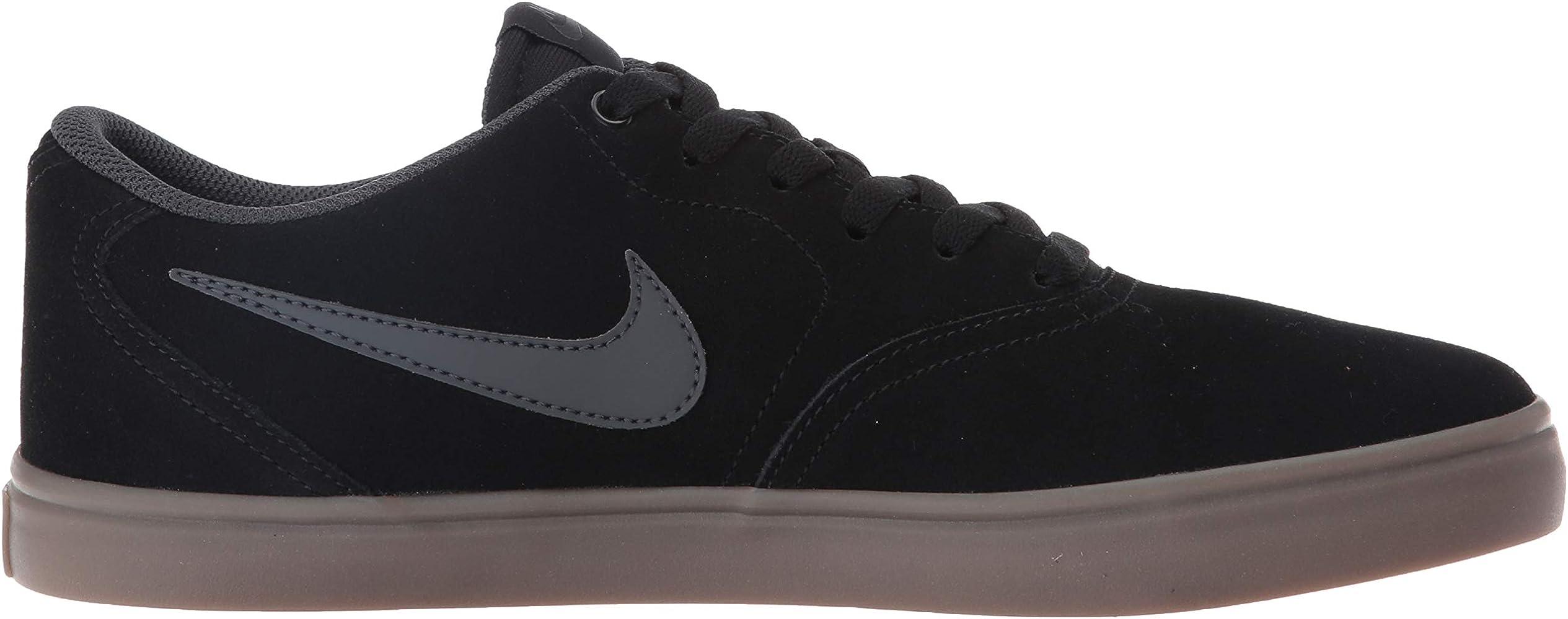 Nike Men's SB Check Solarsoft Skate Shoe Black/White