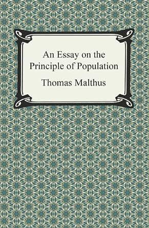 Thomas malthus essay on the principle of population
