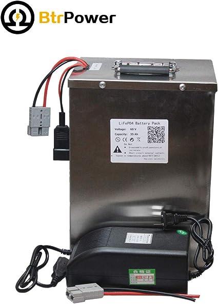 Amazon.com: BtrPower 60V 35AH - Batería de litio LiFePO4 con ...