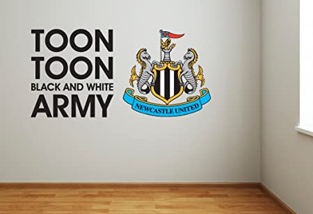 Newcastle united football club toon army song crest wall sticker set official merchandise decal