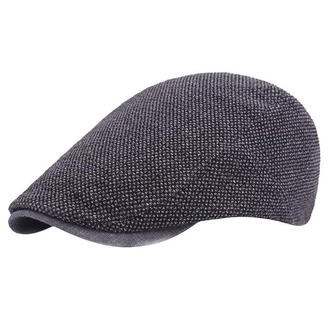 hat flat cap B622 Beechfield gris vintage ivy cap