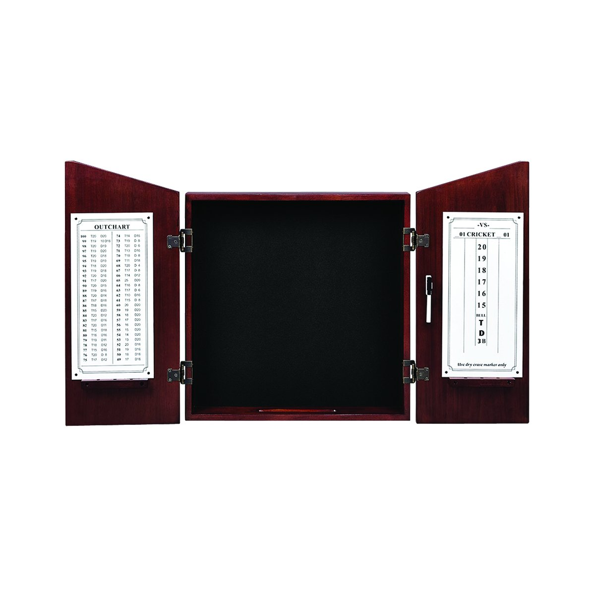 English Tudor RAM Gameroom Dartboard Cabinet