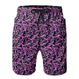 Quick-Dry Bape Shark Pink Men's Swim Trunks Beach Board Shorts Surfing Shorts Bathing Suits Swimwear
