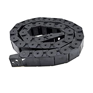 URBEST 1M Length Black Plastic 18 x 25mm Open One Side Type Cable Drag Chain Wire Carrier for CNC Machine