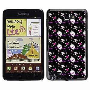 iKiki-Tech Estuche rígido para Samsung Galaxy Note i9220 N7000 - White Skull