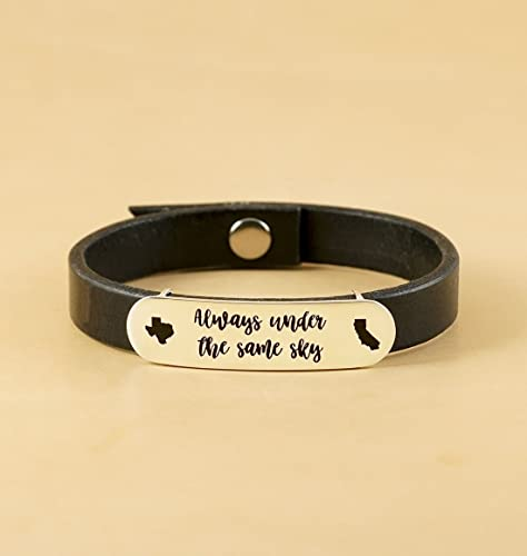 Amazon Com Code Blue Jewelry Personalized Leather Bracelet Custom Engraved Bracelet Couple Bracelet Christmas Gift Boyfriend Wedding Gift Handmade