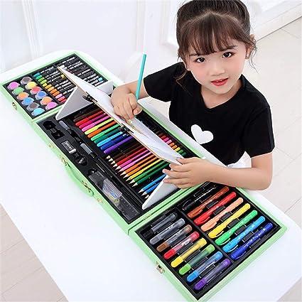 HUATAN Lapices de Dibujo Set Pinturas niños, Kit Dibujo Kit Manualidades para niños maletin Colores para niños,Rosado: Amazon.es: Hogar