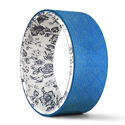 Amazon.com : Flashing Print Dharma Wheel Yoga Wheel Fitness ...