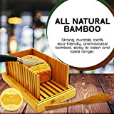 Premium Bamboo Foldable Bread Slicer – Built in
