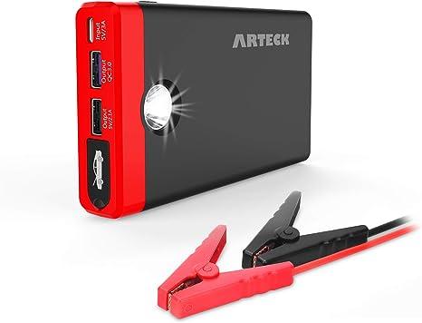 Amazon.com: Arteck - Cargador de batería para arranque de ...