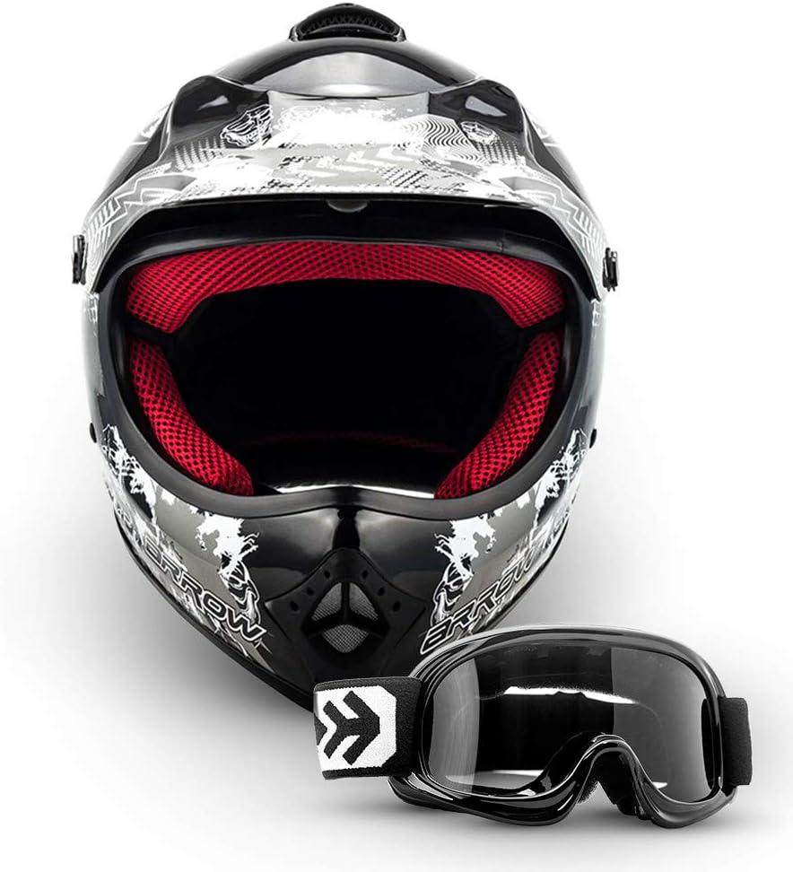 Armor Helmets Akc 49 Kinder Cross Helm Dot Schnellverschluss Tasche Xs 51 52cm Schwarz Auto