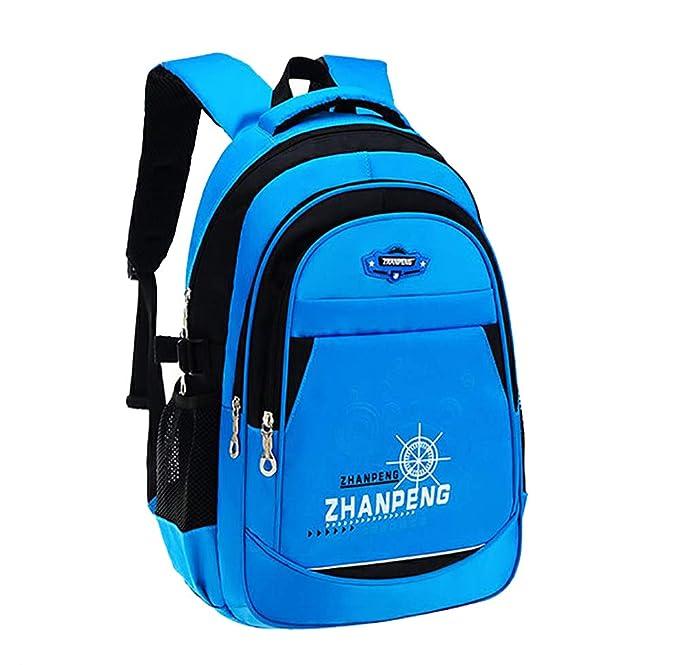 FLHT, mochila escolar 6-8-12 años niño niña niños impermeable ligero 1-3-6 grado estudiantes de escuela primaria campus bolsa de viaje mochila: Amazon.es: ...