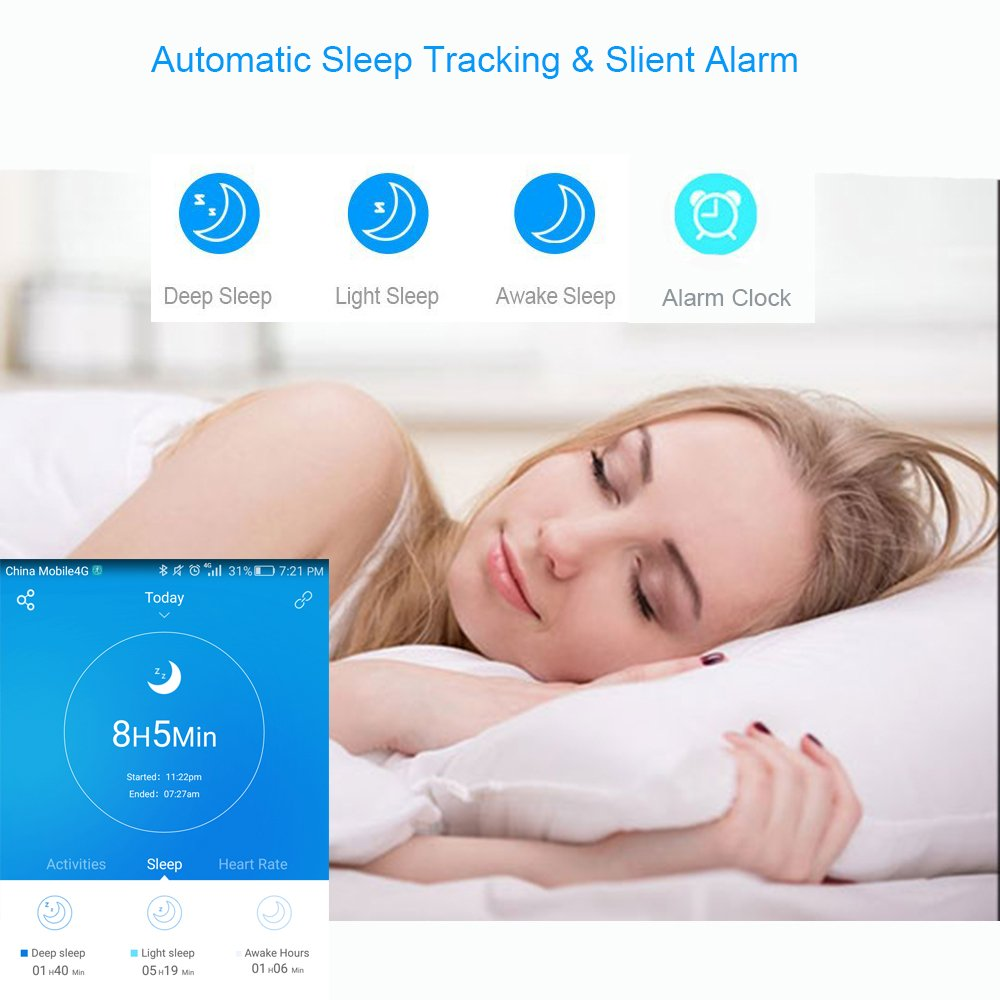 Willful Fitness Tracker, Heart Rate Monitor Fitness Watch Activity Tracker(14 Modes) Pedometer with Step Counter Sleep Monitor Call SMS SNS Notice for Women Men Kids (Color Screen,IP68 Waterproof) by Willful (Image #5)