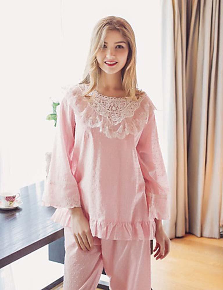 WWQY Women's Cotton Lace Pajama , blushing pink , xl