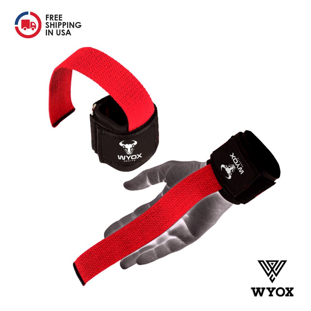 Wyox Weightlifting Bar Straps With Wrist Support Cross fit Gym Power lifting by Wyox Sports (Image #4)
