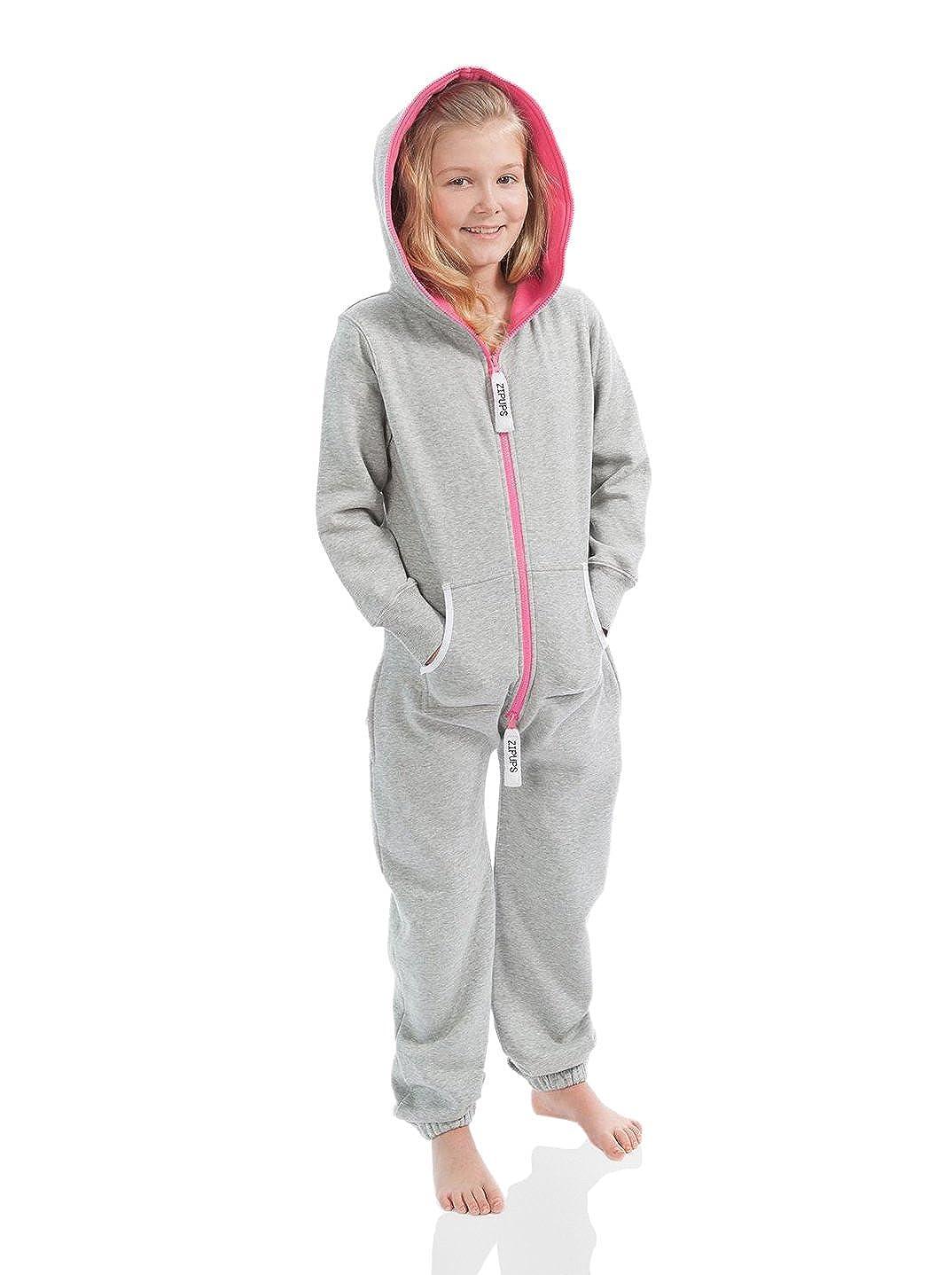 Zipups Mono-Pijama Neon Gris/Fucsia 8-9 años (128/134 cm): Amazon.es: Ropa y accesorios