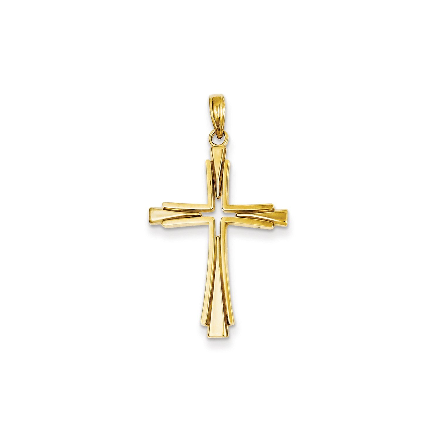 Roy Rose Jewelry 14K Yellow Gold Polished Solid Cross Pendant