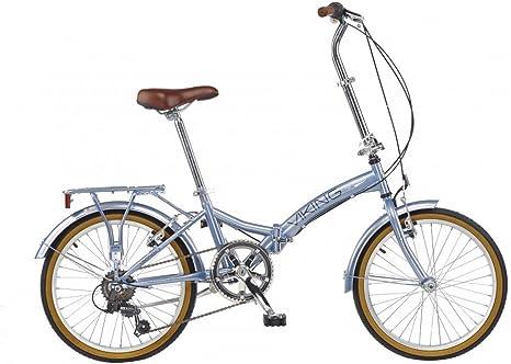 Reflex Easy ST - Bicicleta plegable (50 cm, 6 marchas) plata plata ...