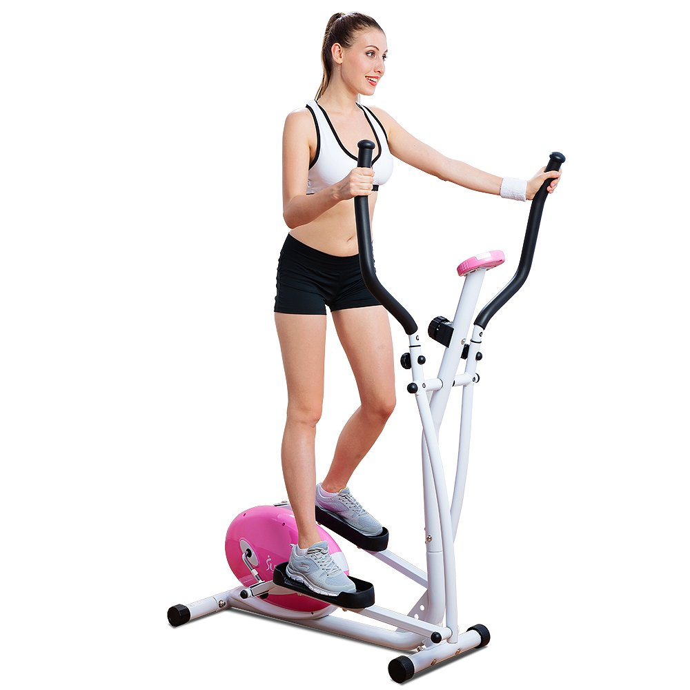 Amazon Com Sunny Health And Fitness Pink Magnetic Elliptical Trainer Pink Eliptical Sports Outdoors