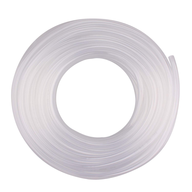 DERPIPE Clear Vinyl Tubing - 3/8'' ID 1/2'' OD PVC Tube Food Grade Flexible Plastic Pipe Hose for Homebrewing, Siphon Pump 30.5 Meters(100ft) Length