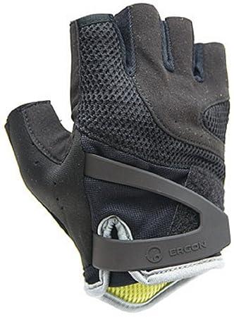 Ergon HT1-W Damen Fahrrad Komfort Handschuhe Touren Velour Leder Polsterung kurz
