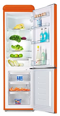 Schaub Lorenz sl250o Retro Nevera y congelador Combinación Naranja ...