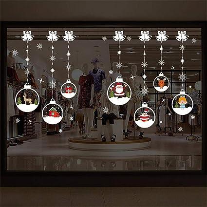 iStary 2018 Cabina De Navidad La Decoración Bola De Cristal Autoadhesiva Sala De Estar Dormitorio Etiqueta De La Pared Arte del Hogar Decoración ...