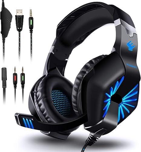 Cascos Gamer Auriculares Audifonos Gaiming Gaming Para PC Xbox One 360 PS4 PS3