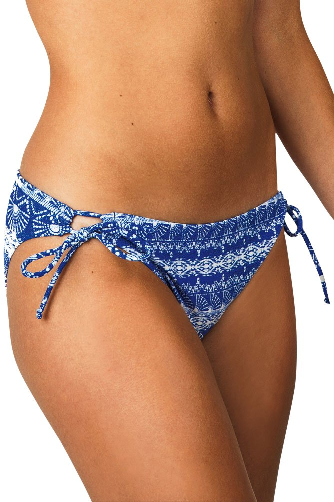 Raisins Womens Tahiti Tide Side Tie Hipster Swim Bottom Separates Blue L