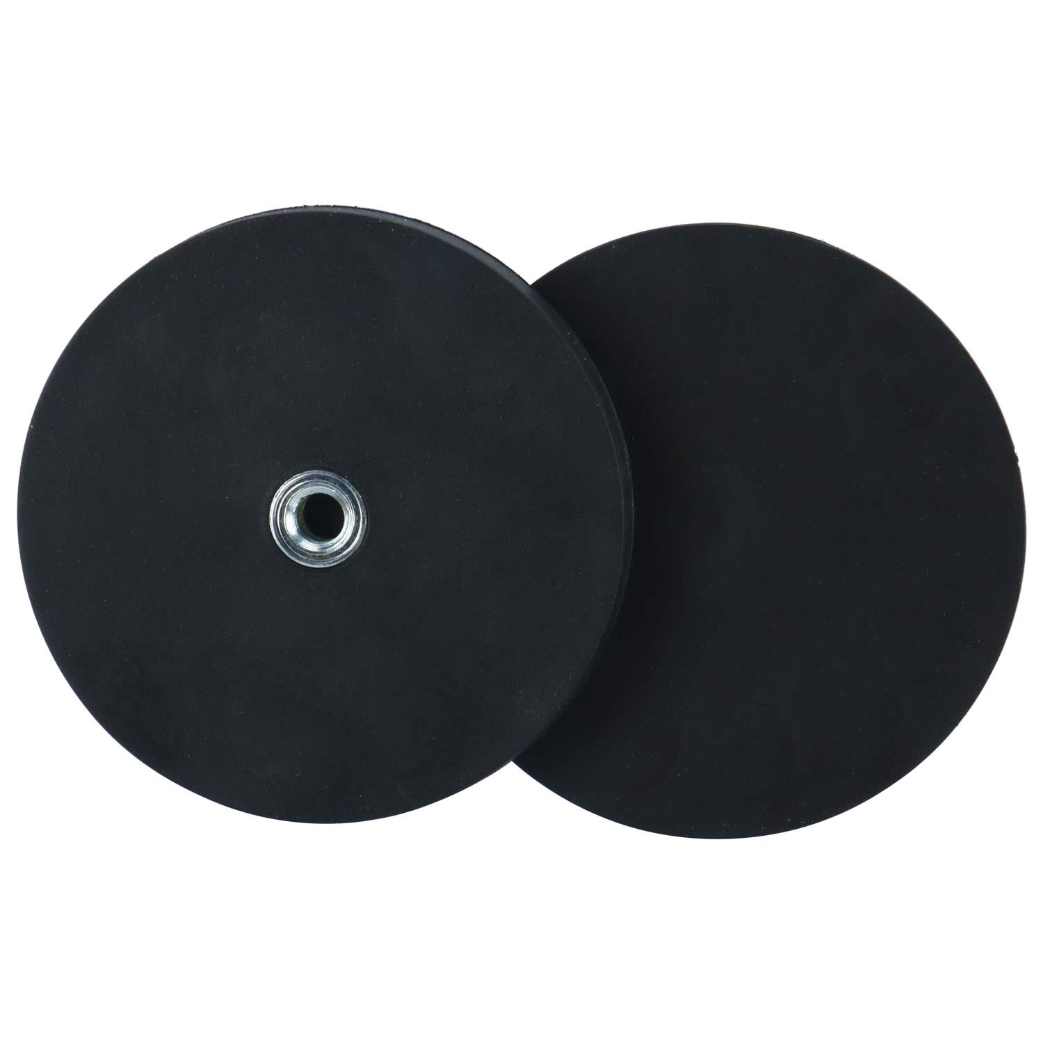 FreeTec 2pcs Rubber Coated Round Magnet Base with 1//4-20 Internal Thread