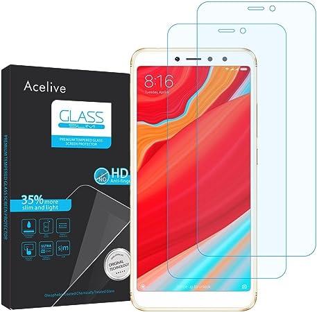 Acelive Cristal Templado Xiaomi Redmi S2, 2 Unidades Protector de ...