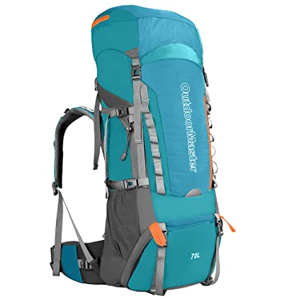Amazon.com : OutdoorMaster 70L + 5L Hiking Backpack - Internal Frame ...