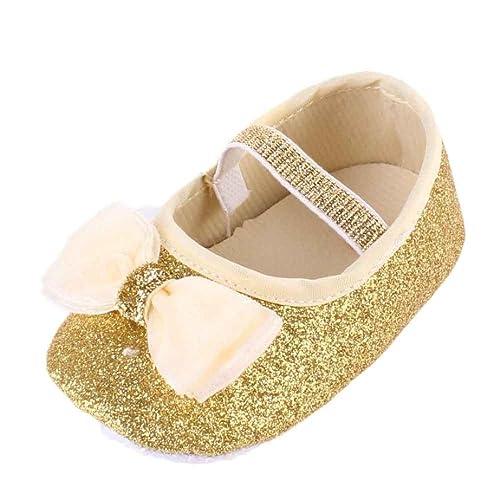 K-youth® Zapatos de Bebé Recién Nacido Zapatos Primeros Pasos Bebe Niña Lentejuelas Paño Zapatos Bebe Niña Suela Blanda Zapatos para Bautizo ...