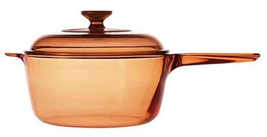 VISIONS - Cazo de Vidrio Pyroceram, de 2,5 litros, Color marrón