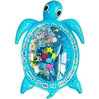 TOYANDONA Baby Water Mat Inflatable Pneumatic Sea Turtle Floor Mat Cartoon Water Cushion Photography Prop for Infant Newborn