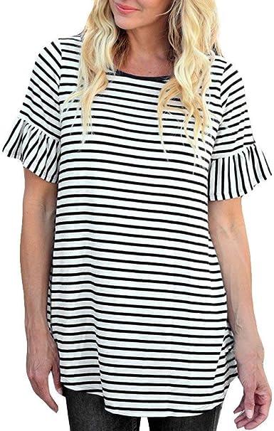 Blusa De Mujer De De De Cultivo Mujer Blusas Rayas Camisa De Manga Mode De Marca