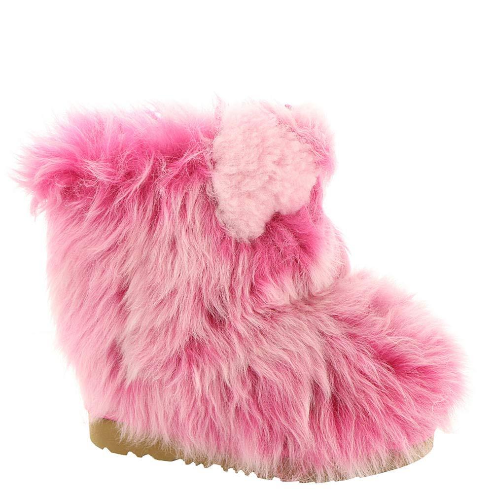UGG Little Kids Pinkipuff Classic II Boot Pink Azalea Size 10 M US Toddler