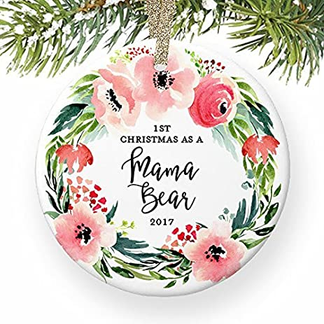 Amazon.com: 1st Christmas as a Mama Bear New Mother Newborn Baby New ...