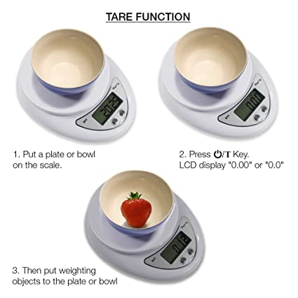Amazon.com: SolarM Portable LCD Digital Kitchen Scale Travel Electronic Weight Escala Bascula: Kitchen & Dining