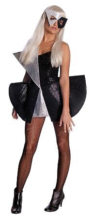 Lady Gaga Black Sequin DressBlack/SilverStandard Costume  sc 1 st  Amazon.com & Amazon.com: Lady Gaga Black Sequin DressBlack/SilverStandard ...