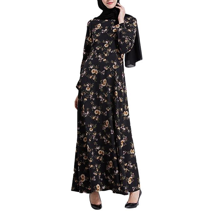 Zhuhaitf Especial Diseño Maxi Dresses Flores Modelo Musulmanes Vestidos Vestido Largo Noche Vestidos Largo Islámico Abaya