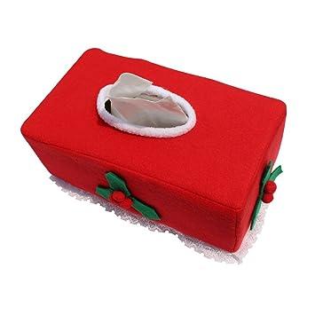 Generic Navidad frutas estilo caja de pañuelos funda de fieltro para decoración del hogar vintage Creative servilleta soporte para toallas de papel de ...