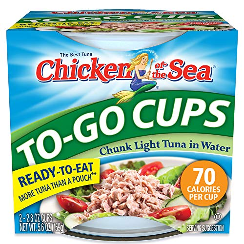 - Chicken of the Sea Tuna Chunk Light Water Cup, 2-2.8-Ounce Cups (Pack of 8)