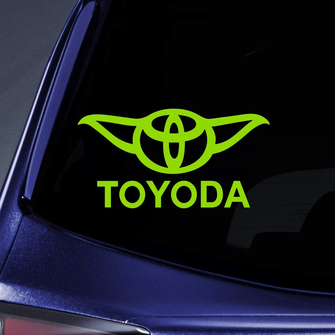 "Bargain Max Decals - Toyoda Yoda - Sticker Decal Notebook Car Laptop 5"" (Lime Green)"