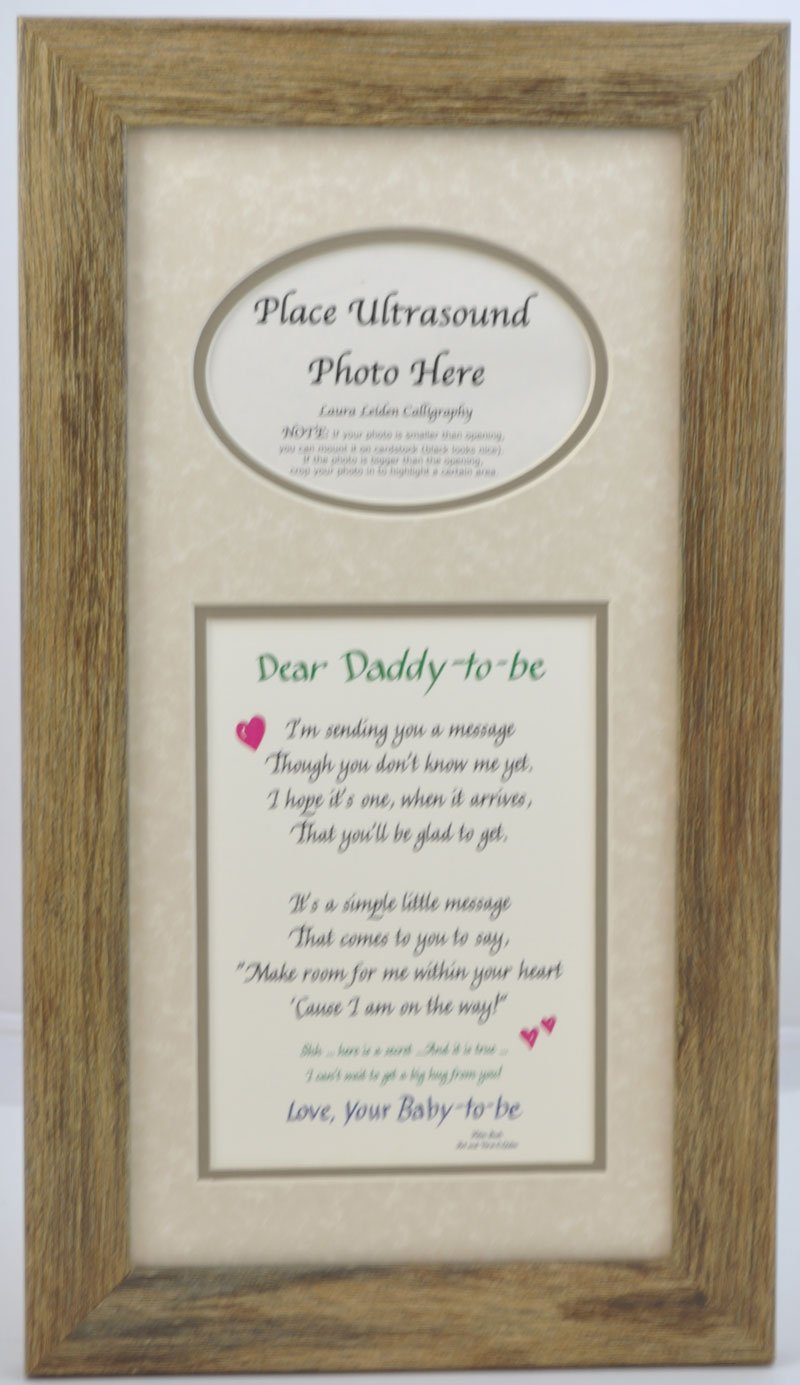 Amazon daddy to be ultrasound picture frame 7x14 sonogram amazon daddy to be ultrasound picture frame 7x14 sonogram gift dad father choose your mat color and frame barnwood frame taupe mat baby negle Image collections
